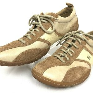 Born Tan Leather and Suede Lace Up Men's Size 11